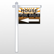 "House Sale 718 18""H x 24""W Swing Arm Sign"