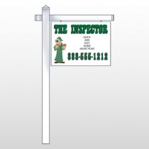 "Inspector 245 18""H x 24""W Swing Arm Sign"