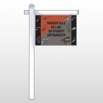 "Larry Music Store 372 18""H x 24""W Swing Arm Sign"