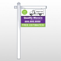 "Moving Truck 293 18""H x 24""W Swing Arm Sign"
