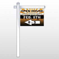 "Open Left Arrow 714 18""H x 24""W Swing Arm Sign"
