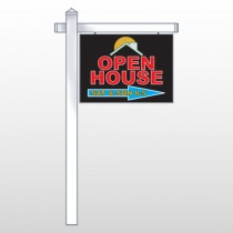 "Open Moon Roof 727 18""H x 24""W Swing Arm Sign"