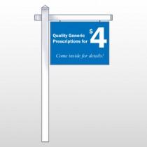 "Pharmacy 334 18""H x 24""W Swing Arm Sign"