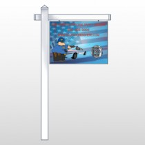 "Police Thanks 429 18""H x 24""W Swing Arm Sign"