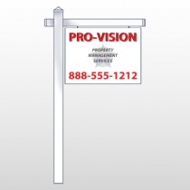 "Property Management 247 18""H x 24""W Swing Arm Sign"