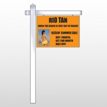"Rio Tan Beach 489 18""H x 24""W Swing Arm Sign"