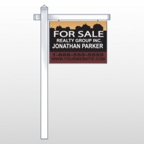 "Silhouette Community 851 18""H x 24""W Swing Arm Sign"