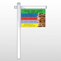 "Sandwich 375 18""H x 24""W Swing Arm Sign"