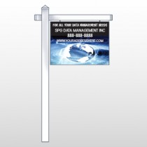 "World Wide Web 437 18""H x 24""W Swing Arm Sign"