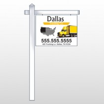 "Yellow Truck 296 18""H x 24""W Swing Arm Sign"