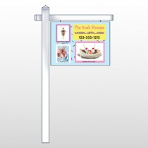 "Ice Cream 374 18""H x 24""W Swing Arm Sign"
