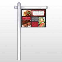 "Restaurant Specials 370 18""H x 24""W Swing Arm Sign"
