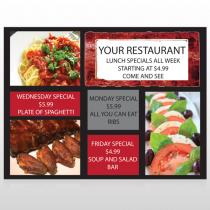 Restaurant  Specials 370 Custom Decal