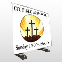 3 Crosses 149 Exterior Pocket Banner Stand