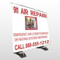 AC Repair 251 Exterior Pocket Banner Stand