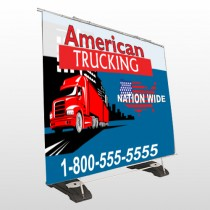 American Truck 295 Exterior Pocket Banner Stand