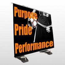Black 53 Exterior Pocket Banner Stand