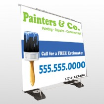 Blue Paint Brush 305 Exterior Pocket Banner Stand