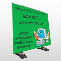 Cartoon Computer 431 Exterior Pocket Banner Stand