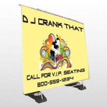 DJ Crank Night 369 Exterior Pocket Banner Stand