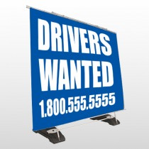 Drivers Wanted 314 Exterior Pocket Banner Stand