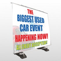 Fire Works Car 316 Exterior Pocket Banner Stand