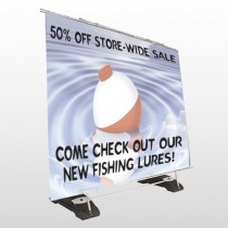 Fishing Bobber 410 Exterior Banner Stand