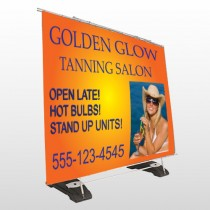 Golden Glow 491 Exterior Pocket Banner Stand