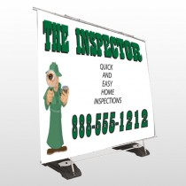 Inspector 245 Exterior Pocket Banner Stand