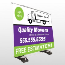 Moving Truck 293 Exterior Pocket Banner Stand