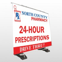 Pharmacy 333 Exterior Pocket Banner Stand