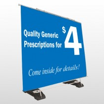 Pharmacy 334 Exterior Pocket Banner Stand