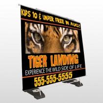 Tiger Landing 303 Exterior Pocket Banner Stand