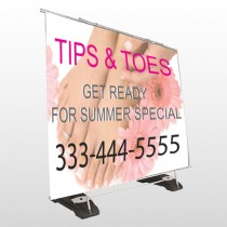 Tips And Toes 488 Exterior Pocket Banner Stand