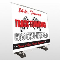 Towing 311 Exterior Pocket Banner Stand