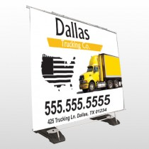 Yellow Truck 296 Exterior Pocket Banner Stand