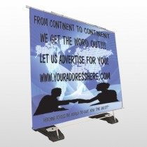 Map Silhouette 433 Exterior Pocket Banner Stand