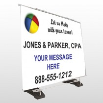 Pie Taxes 172 Exterior Pocket Banner Stand