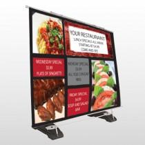Restaurant Specials 370 Exterior Pocket Banner Stand