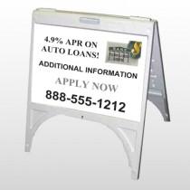 Auto Loan 155 A Frame Sign
