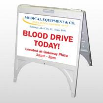 Blood Drive 330 A Frame Sign