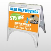 Blue Moving 294 A Frame Sign