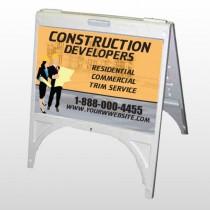 Contractors 645 A Frame Sign