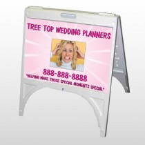 Crazy Wedding 411 A Frame Sign