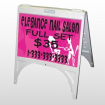 Elegant Nails 643 A Frame Sign