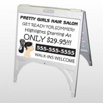 Pretty Girl Hair 290 A Frame Sign