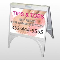Tips & Toes 488 A Frame Sign