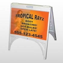 Tropical Rayz Tan 490 A Frame Sign
