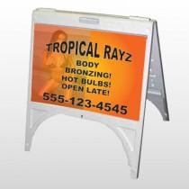 Tropical Rayz Tan 490 A Frame Sign