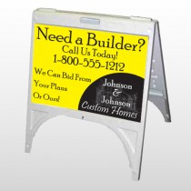 Yellow House 216 A Frame Sign